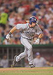 23 July 2016: San Diego Padres outfielder Travis Jankowski in action against the Washington Nationals at Nationals Park in Washington, DC. The Nationals defeated the Padres 3-2 to tie their series at one game apiece. Mandatory Credit: Ed Wolfstein Photo *** RAW (NEF) Image File Available ***