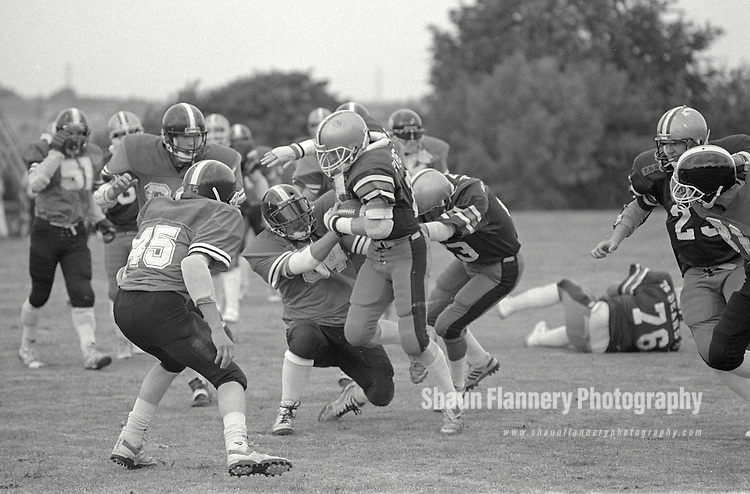 Pix: Shaun Flannery/shaunflanneryphotography.com...COPYRIGHT PICTURE>>SHAUN FLANNERY>01302-570814>>07778315553>>..12th August 1990..Barnsley Bears v Birkenhead Nighthawks..Quarter Final Playoffs..