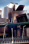 Bilbao, Spain, Guggenheim Museum Bilbao, designed by Frank Gehry opened in 1997 and displays expressionist modern art. Museo Guggenheim Bilbao,.
