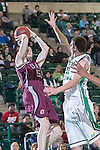 Arkansas Little Rock Trojans forward Will Neighbour (53) in action during the game between the Arkansas Little Rock Trojans and the North Texas Mean Green at the Super Pit arena in Denton, Texas. UALR defeats UNT 62 to 57...