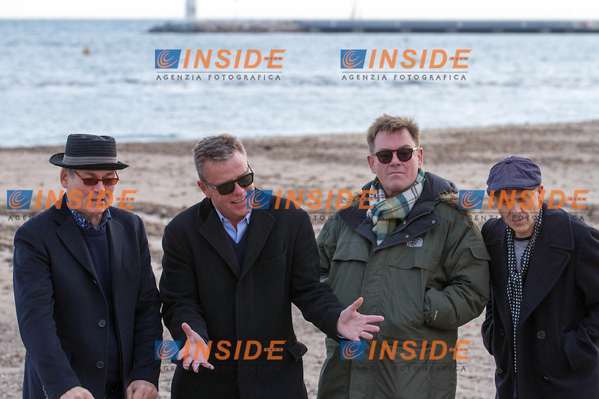 Photocall Madness, Croisette, MIDEM 2013.Jay Lee Thompson - Graham McPherson ( Suggs ) - Chas Smash - Chris Foreman .Cannes 28/1/2013 .Foto Nicolas Gavet / Panoramic / Insidefoto.ITALY ONLY