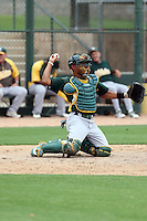 Andy Paz - Oakland Athletics 2013 extended spring training (Bill Mitchell)