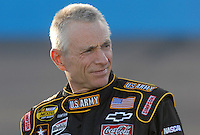 Apr 19, 2007; Avondale, AZ, USA; Nascar Nextel Cup Series driver Mark Martin (01) during qualifying for the Subway Fresh Fit 500 at Phoenix International Raceway. Mandatory Credit: Mark J. Rebilas