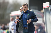 Wycombe Wanderers Manager Gareth Ainsworth takes charge of his 200th game as a Manager (which include 11 at QPR) during the Sky Bet League 2 match between Wycombe Wanderers and Stevenage at Adams Park, High Wycombe, England on 12 March 2016. Photo by Andy Rowland/PRiME Media Images.