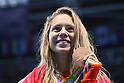 Boglarka Kapas (HUN), <br /> AUGUST 12, 2016 - Swimming : <br /> Women's 800m Freestyle Medal Ceremony <br /> at Olympic Aquatics Stadium <br /> during the Rio 2016 Olympic Games in Rio de Janeiro, Brazil. <br /> (Photo by Yohei Osada/AFLO SPORT)