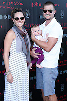 WEST HOLLYWOOD, CA, USA - SEPTEMBER 21: Amy Chase, Bailey Chase arrive at the John Varvatos #PeaceRocks Ringo Starr Private Concert held at the John Varvatos Boutique on September 21, 2014 in West Hollywood, California, United States. (Photo by Xavier Collin/Celebrity Monitor)