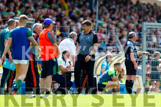 Kerry Manager Éamonn Fitzmaurice during the Munster GAA Football Senior Championship semi-final match between Kerry and Clare at Fitzgerald Stadium in Killarney on Sunday.