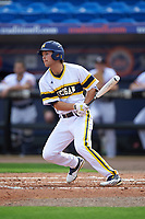 Michigan Wolverines center fielder Cody Bruder (3) at bat during the first game of a doubleheader against the Canisius College Golden Griffins on June 20, 2016 at Tradition Field in St. Lucie, Florida.  Michigan defeated Canisius 6-2.  (Mike Janes/Four Seam Images)