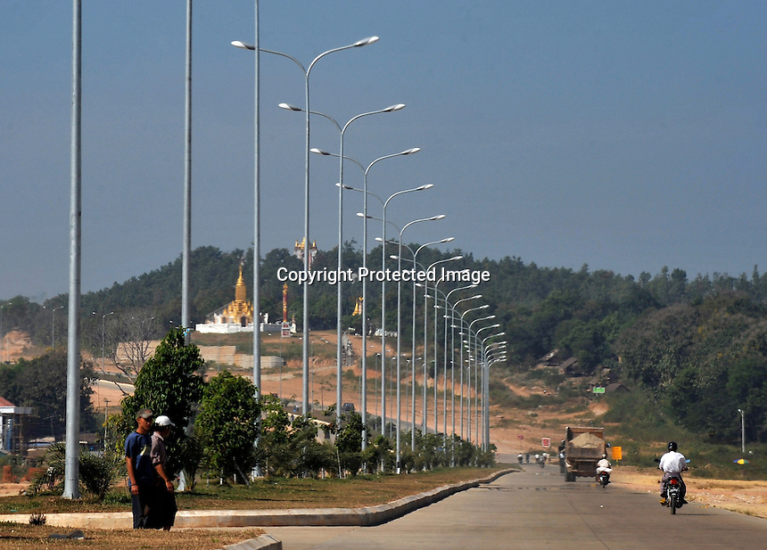The new Burmese Capitol called Naypyitaw which is under constrauction in the center of Burma. The capiltol is a mass of low rise concrete buildings and the administrative capitol of Burma where the military junta reside.<br /> <br /> Photo by Richard Jones