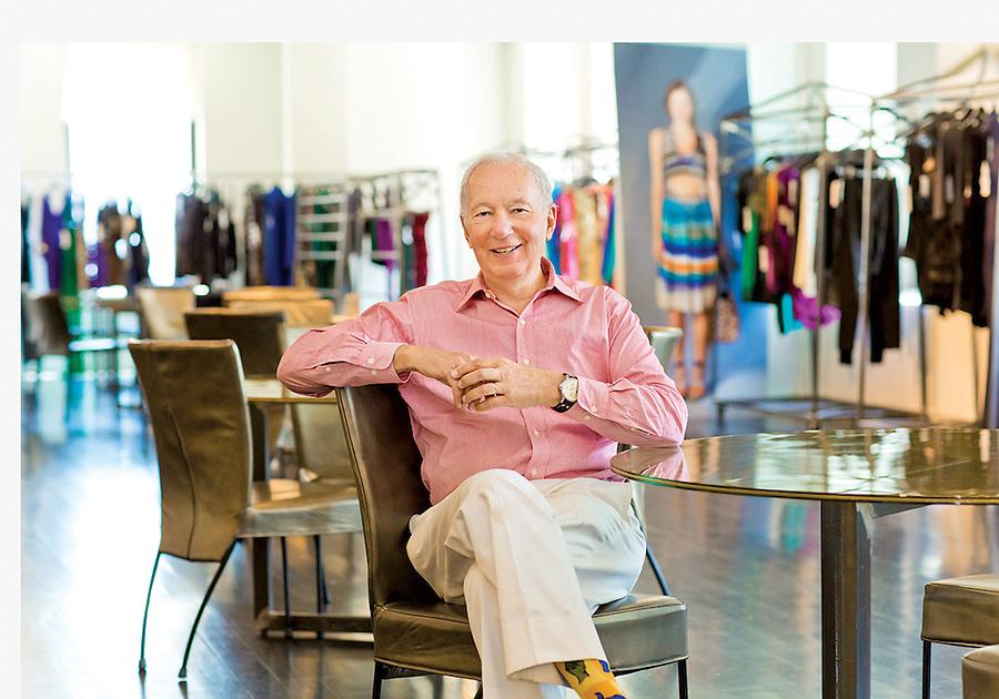 Bud Konheim at the Nicole Miller showroom in NYC.