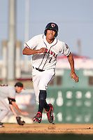 Carlos Correa #1 of the Lancaster JetHawks runs the bases during a game against the San Jose Giants at The Hanger on May 3, 2014 in Lancaster, California. San Jose defeated Lancaster, 5-4. (Larry Goren/Four Seam Images)