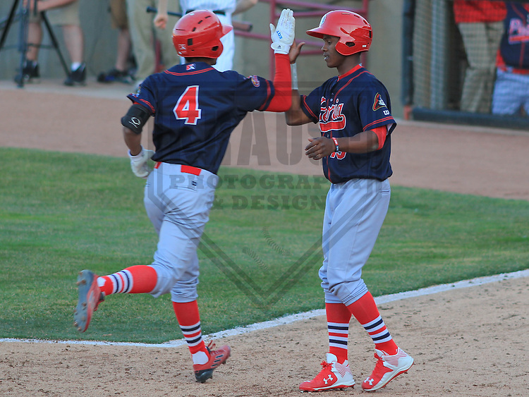 APPLETON - April 2015: shortstop Oscar Mercado (4) of the Peoria Chiefs during a game against the Wisconsin Timber Rattlers on April 12th, 2015 at Fox Cities Stadium in Appleton, Wisconsin. (Photo Credit: Brad Krause)