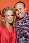 Katie Finneran and Darren Goldstein attends the Opening Night performance of 'A Parallelogram'  at The Second Stage Theatre on August 2, 2017 in New York City.