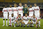 18 September 2004: Chicago's starting lineup. Front row (l to r) Andy Williams, Logan Pause, Jessie Marsch, Scott Buete. Back row (l to r): Damani Ralph, Denny Clanton, Kelly Gray, Jim Curtin, Henry Ring, C.J. Brown, Nate Jaqua. DC United defeated the Chicago Fire 3-1 at RFK Stadium in Washington, DC in a regular season Major League Soccer game..