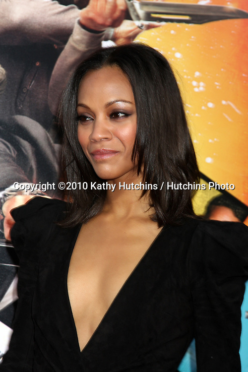 "Zoe Saldana.arrives at ""The Losers"" Premiere.Grauman's Chinese Theater.Los Angeles, CA.April 20, 2010.©2010 Kathy Hutchins / Hutchins Photo..."