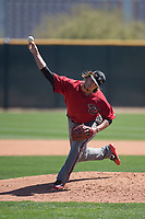 Arizona Diamondbacks relief pitcher Mason McCullough (47) delivers a pitch to the plate during a Minor League Spring Training intrasquad game at Salt River Fields at Talking Stick on March 12, 2018 in Scottsdale, Arizona. (Zachary Lucy/Four Seam Images)