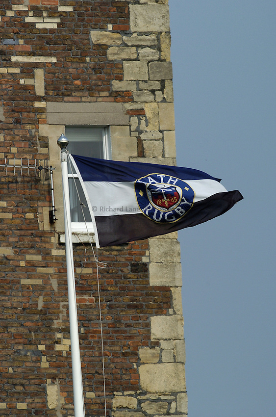 Photo: Jonathan Butler..Bath Rugby v Bristol Rugby. European Challenge Cup. 31/03/2007..Bath Flag flying high.