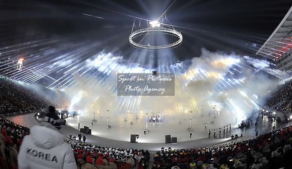 Fireworks. Opening Ceremony. Pyeongchang2018 winter Olympics. Olympic stadium. Pyeongchang. Republic of Korea. 09/02/2018. ~ MANDATORY CREDIT Garry Bowden/SIPPA - NO UNAUTHORISED USE - +44 7837 394578