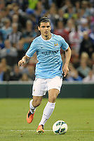 Karim Rekik (44) Manchester City in action..Manchester City defeated Chelsea 4-3 in an international friendly at Busch Stadium, St Louis, Missouri.
