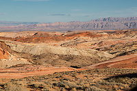 Valley of Fire, Nevada.  Scenic View from Roadway to White Domes.
