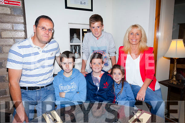 Congratulations to Greg Scanlon from Killeen Heights Tralee who is celebrating his 13th birthday with friends at Bella Bia on Friday night. Pictured front l-r Dave Scanlon, Andrew McGee, Greg Scanlon, Amy Scanlon, Dean Scanlon and Lorraine Scanlon