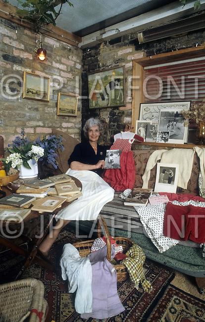 London, UK, 1987. Judy Campbell, the mother of Jane Birkin.