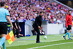 Diego Pablo Simeone, Head Coach of Atletico de Madrid gestures during the La Liga match between Atletico Madrid and Eibar at Wanda Metropolitano Stadium on May 20, 2018 in Madrid, Spain. Photo by Diego Souto / Power Sport Images