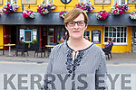 Fiona Kirby outside the Brogue Inn on Monday