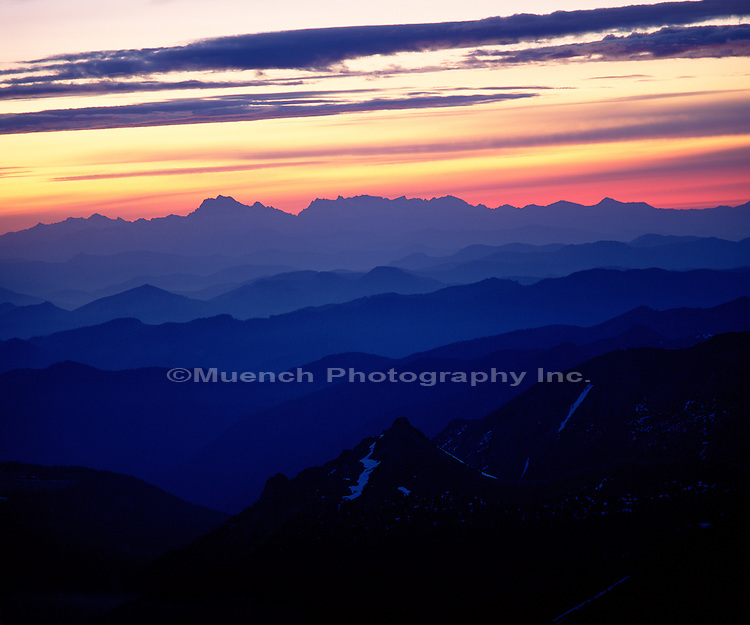 Cascade Range, from Mount Rainier