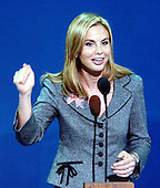 New York, NY - August 31, 2004 --   Elizabeth Hasselbeck speaks in favor of Breast Cancer Funding at the 2004 Republican Convention in Madison Square Garden in New York, New York on Tuesday, August 31, 2004..Credit: Ron Sachs / CNP.(RESTRICTION: No New York Metro or other Newspapers within a 75 mile radius of New York City)