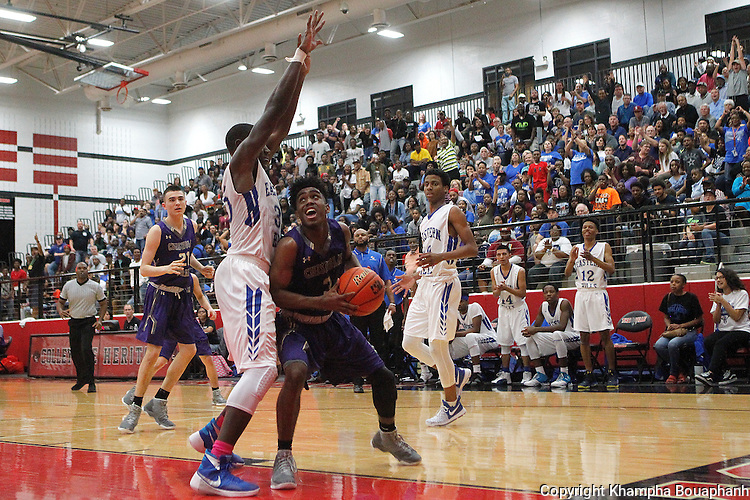 Eastern Hills defeats Chisholm Trail 58-54 in the regional quarterfinal round of a high school basketball playoff game at Colleyville Heritage High School on Tuesday, February 28, 2017.