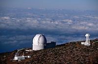Spanien, Kanarische Inseln, La Palma, Observatorium am Roque de los Muchchos