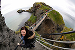 Allison as she approaches the Carrick-a-Rede Rope Bridge in Ballintoy, County Antrim, Northern Ireland on Saturday, June 22nd 2013. (Photo by Brian Garfinkel)