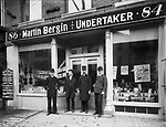 The Bergin family ran a business out of the same storefront as their stationery business.  It was located at 84-86 South Main St. in Waterbury.  (L to R Patrick Bergin, Martin Bergin, Jr., Martin Bergin, Sr. and Thomas Bergin.