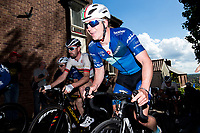 Picture by Alex Whitehead/SWpix.com - 14/05/2017 - Cycling - 2017 HSBC UK   Spring Cup Road Series - Lincoln Grand Prix - Bike Channel Canyon's James Lowsley Williams climbs Michaelgate cobbles.