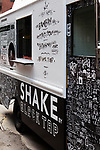 One of two renovated vintage Black Tap trucks that will be roving the city streets this summer serving milkshakes. A third truck is in progress with plans to be stationed in the Hamptons.<br /> <br /> Danny Ghitis for The New York Times