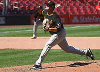 25th July 2020, St Louis, MO, USA;  Pittsburgh Pirates pitcher Nik Turleyk pitches in relief during a Major League Baseball game between the Pittsburgh Pirates and the St. Louis Cardinals