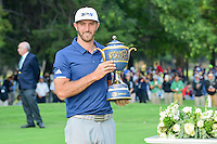 Dustin Johnson (USA) holds the trophy for winning the World Golf Championships, Mexico, Club De Golf Chapultepec, Mexico City, Mexico. 3/5/2017.<br /> Picture: Golffile | Ken Murray<br /> <br /> <br /> All photo usage must carry mandatory copyright credit (&copy; Golffile | Ken Murray)