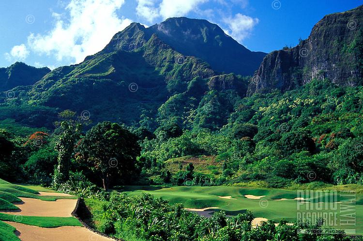 Koolau golf course number 18 designed by Dick Nugent & Jack Tuthill, Oahu
