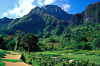 Koolau golf course number 18 designed by Dick Nugent & Jack Tuthill, Oahu