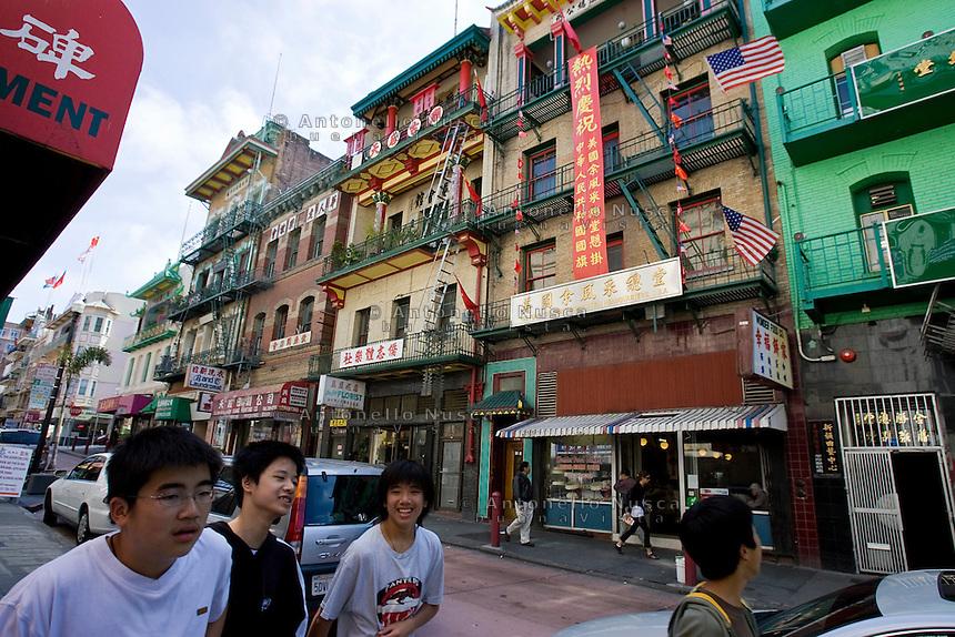 San Francisco, California, Usa, June 27, 2007. China Town in San Francisco