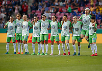 Football, Koeln, Germany , DFB-Pokalfinale wifeen,, <br />VFL Wolfsburg (WOB ) vs. FC Bayern M Muenchen 3-2 n.E.  Rhein-Energie stadium  in Koeln19. 05. 2018<br />Isabel KERSCHOWSKI (VFL),Caroline GRAHAM HANSEN (VFL),Pernille HADER (VFL),Noelle MARITZ (VFL) ,Zsanett JAKABFI (VFL) ,Joelle  WEDEMEYER (VFL), Sara Bjšrk GUNNARSDOTTIR (VFL) ,Lena GOESSLING (VFL), Nilla FISCHER (VFL) and Ella MASAR (VFL) v.n.-<br /><br /><br /> *** Local Caption *** © pixathlon<br /> Contact: +49-40-22 63 02 60 , info@pixathlon.de
