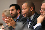 Nevada Senate Minority Leader Aaron Ford, D-Las Vegas, works in committee at the Legislative Building in Carson City, Nev., on Wednesday, Feb. 25, 2015. <br /> Photo by Cathleen Allison