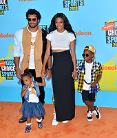 SANTA MONICA, USA. July 11, 2019: Ciara & Russell Wilson at Nickelodeon's Kids' Choice Sports Awards 2019 at Barker Hangar.<br /> Picture: Paul Smith/Featureflash