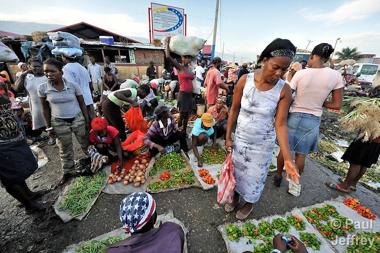 Produce is bought and sold in the Croix-des-Bossales market in the La Saline neighborhood of Port-au-Prince, Haiti.