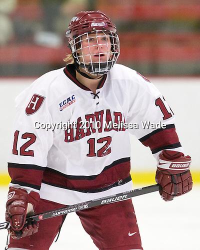 Ashley Wheeler (Harvard - 12) - The Harvard University Crimson defeated the Northeastern University Huskies 1-0 to win the 2010 Beanpot on Tuesday, February 9, 2010, at the Bright Hockey Center in Cambridge, Massachusetts.