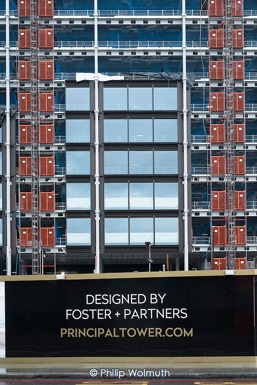 Luxury housing development designed by Foster & Partners, Shoreditch, London.