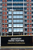 Luxury housing development designed by Foster & Partners, Shoreditch, London.