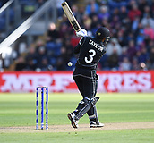 Jun 6th, The SSE SWALEC, Cardiff, Wales; ICC Champions Trophy; England versus New Zealand; Ross Taylor of New Zealand plays a loose shot and is caught by Joe Root of England