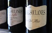 Cuvee Sarrat del Mas. Domaine des Soulanes, Fenouilledes, Tautavel. Roussillon. France. Europe. Bottle.
